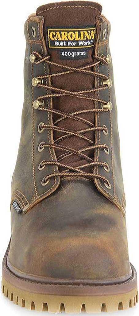 "Men's Carolina 8"" Waterproof 400G Insulated Steel Toe Work Boot, Medium Brown Leather, large, image 3"
