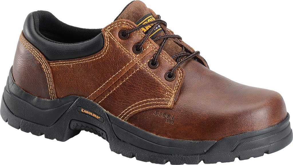 Men's Carolina Steel Broad Toe ESD Oxford, Dark Brown Leather, large, image 1