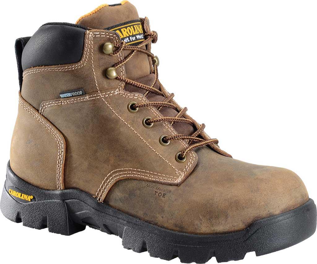 """Men's Carolina 6"""" Waterproof Composite Toe Work Boot CA3536"""", Dark Brown, large, image 1"""