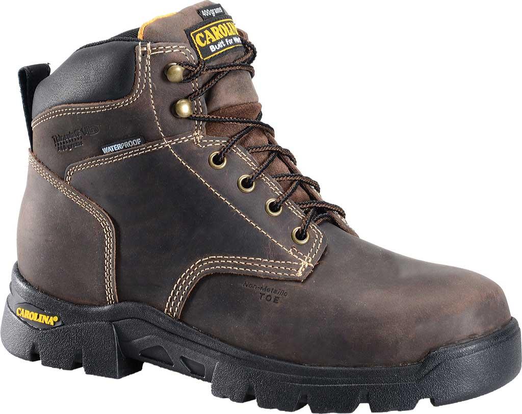 "Men's Carolina 6"" Waterproof Insulated Composite Toe Work Boot, Dark Brown, large, image 1"