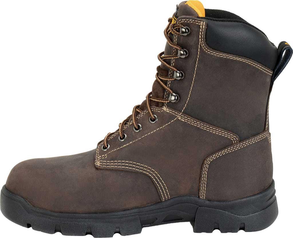 "Men's Carolina 8"" Waterproof Insulated Composite Toe Work Boot, Dark Brown, large, image 2"