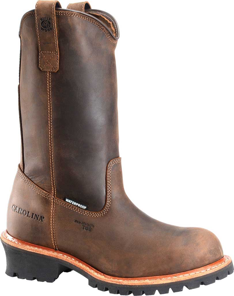 "Men's Carolina 12"" Waterproof Composite Toe Ranch Wellington, Dark Brown, large, image 1"