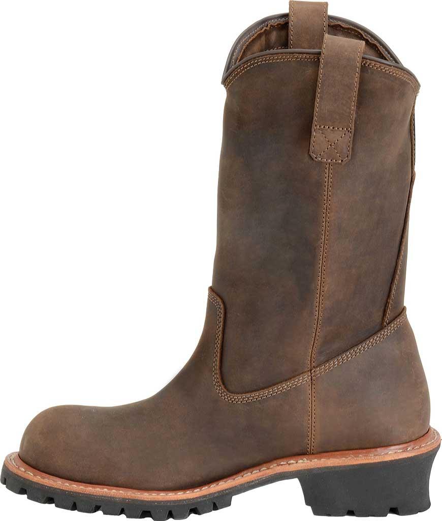 "Men's Carolina 12"" Waterproof Composite Toe Ranch Wellington, Dark Brown, large, image 2"