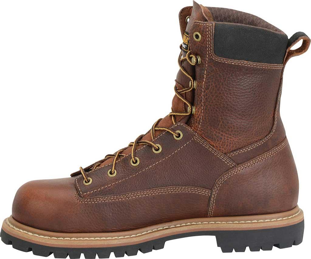 "Men's Carolina CA5529 8"" Waterproof Composite Toe Work Boot, Brown Leather, large, image 2"