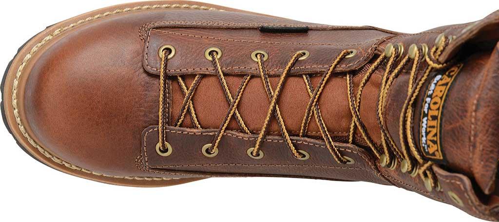 "Men's Carolina CA5529 8"" Waterproof Composite Toe Work Boot, Brown Leather, large, image 4"