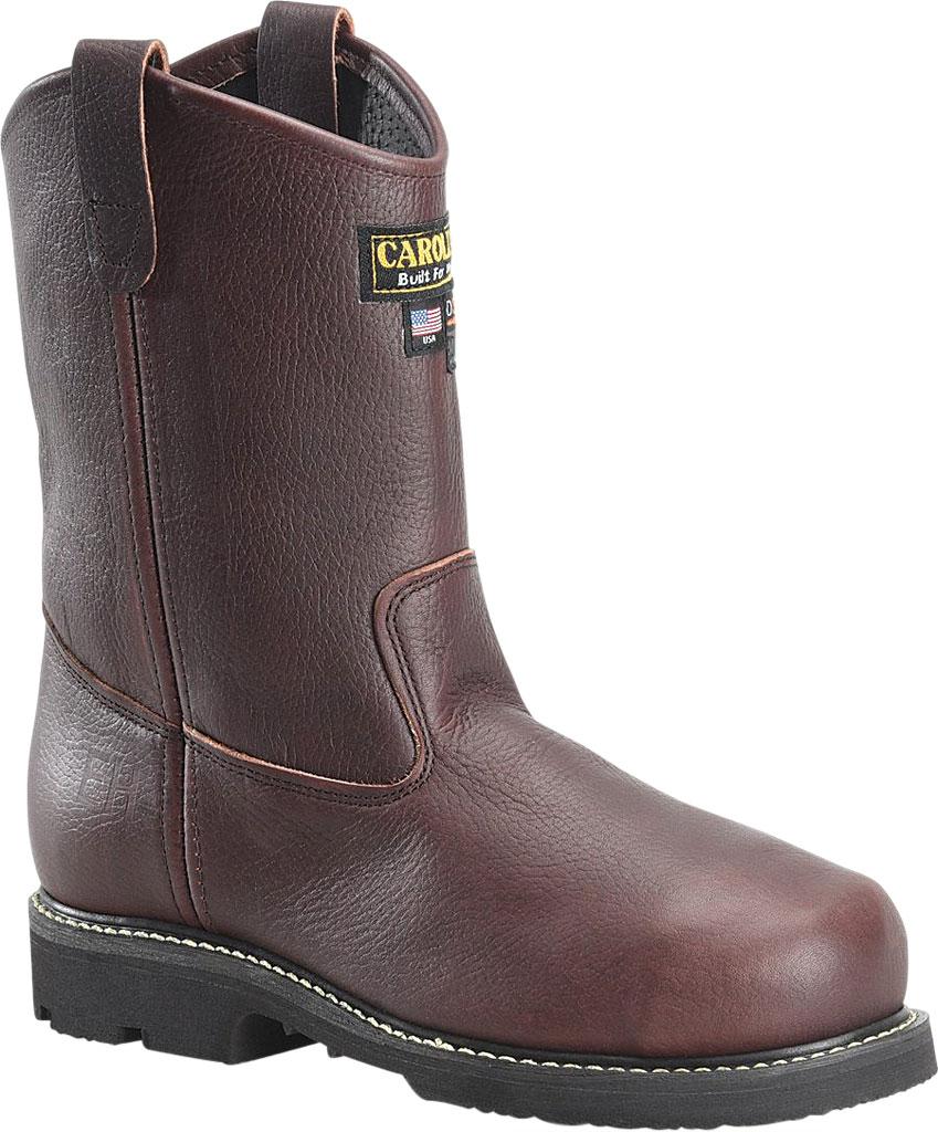 "Men's Carolina CA520 10"" Wellington Domestic Broad Toe Met Boot, Briar Pitstop Leather, large, image 1"
