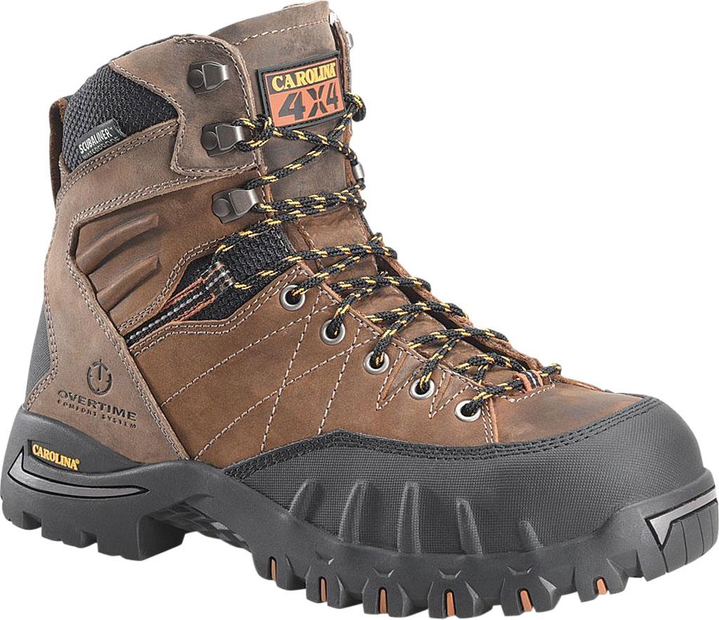 "Men's Carolina CA4558 7"" PC2 Waterproof Composite Toe 4X4 Hiker, Buster Peanut Leather, large, image 1"