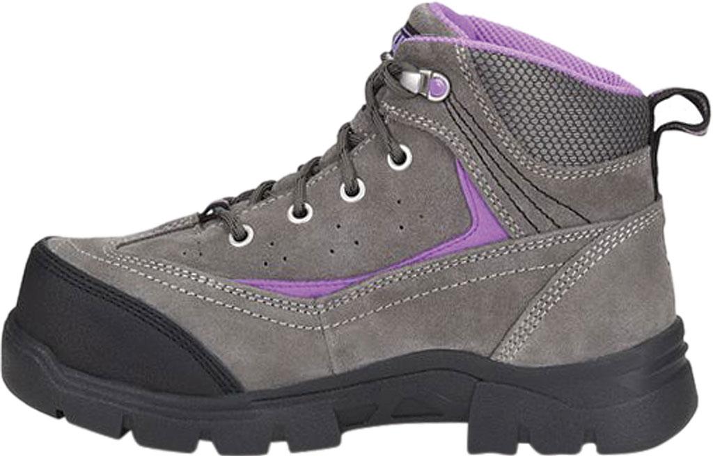 "Women's Carolina Reese 5"" Comp Toe Internal MetGuard Work Boot, Grey Nappa Suede Leather, large, image 3"