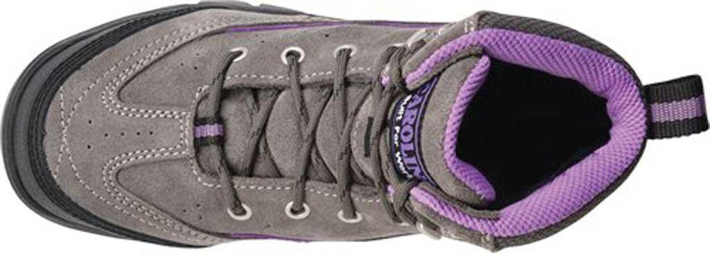 "Women's Carolina Reese 5"" Comp Toe Internal MetGuard Work Boot, Grey Nappa Suede Leather, large, image 5"