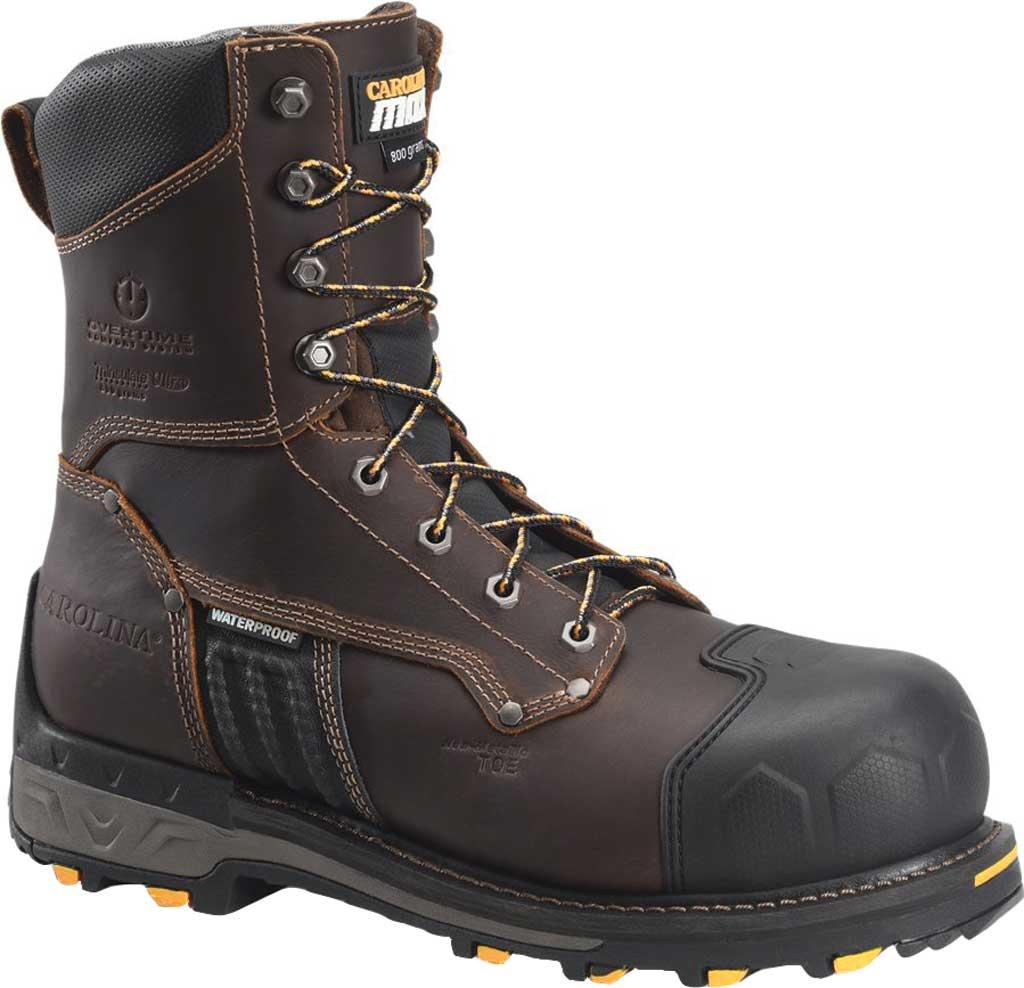 "Men's Carolina Maximus 2.0 8"" WP Insulated Comp Toe Work Boot, Dark Brown Leather, large, image 1"