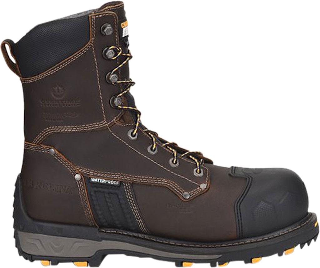 "Men's Carolina Maximus 2.0 8"" WP Insulated Comp Toe Work Boot, Dark Brown Leather, large, image 2"