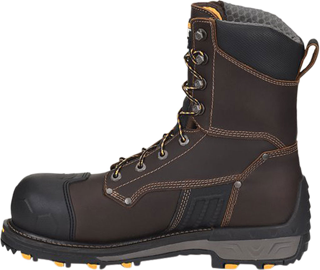 "Men's Carolina Maximus 2.0 8"" WP Insulated Comp Toe Work Boot, Dark Brown Leather, large, image 3"