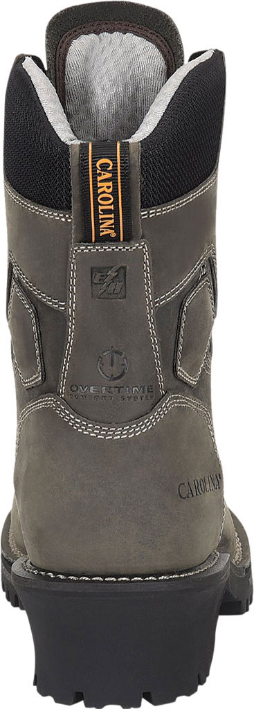 "Men's Carolina Pitstop 8"" Waterproof Carbon Comp Toe Logger, Grey Leather, large, image 4"