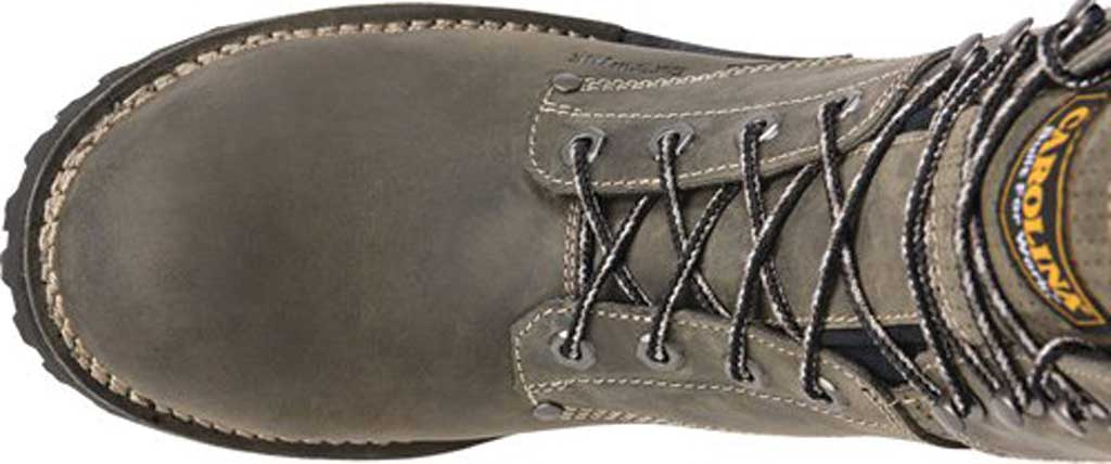 "Men's Carolina Pitstop 8"" Waterproof Carbon Comp Toe Logger, Grey Leather, large, image 5"