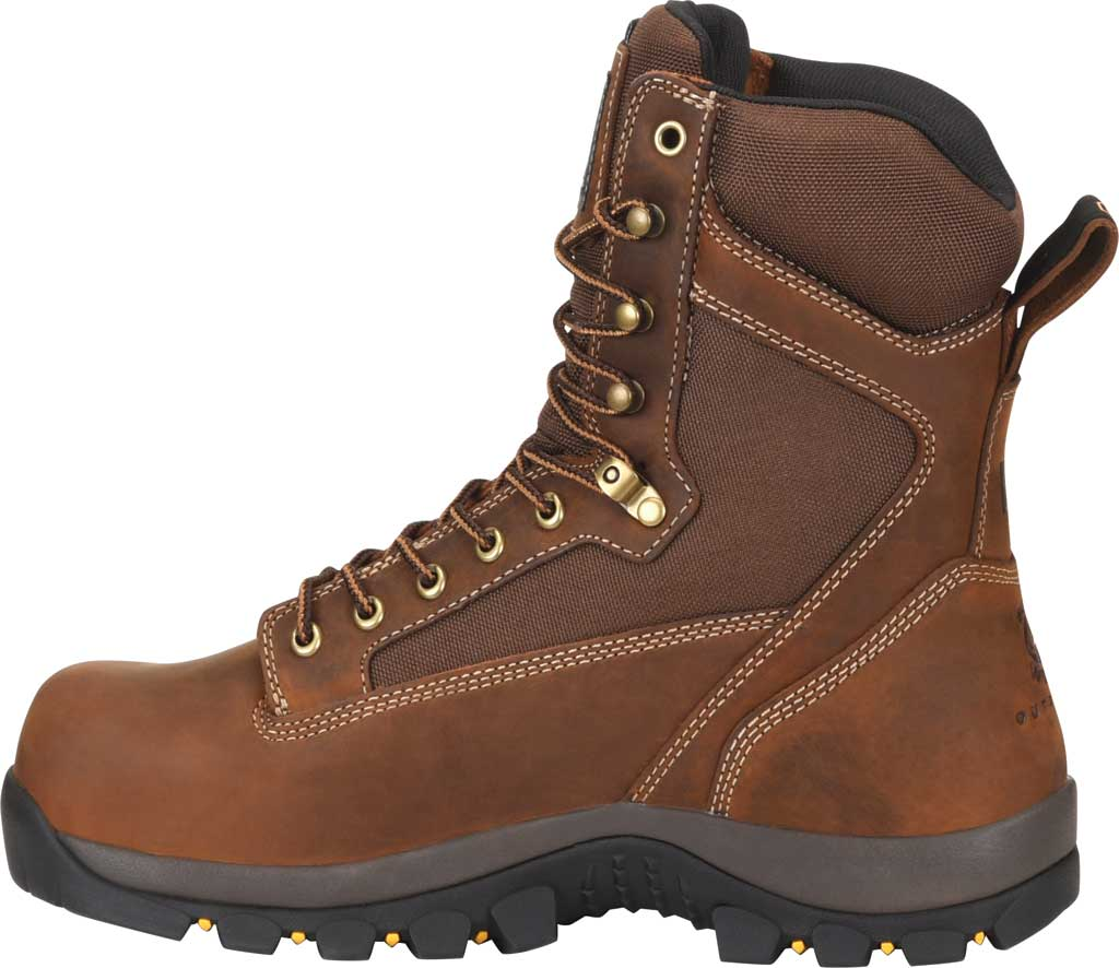 """Men's Carolina Insulated Forrest 8"""" WP Insulated 4x4 Work Boot, Dark Brown Copper Crazy Horse Leather/Nylon Mesh, large, image 2"""