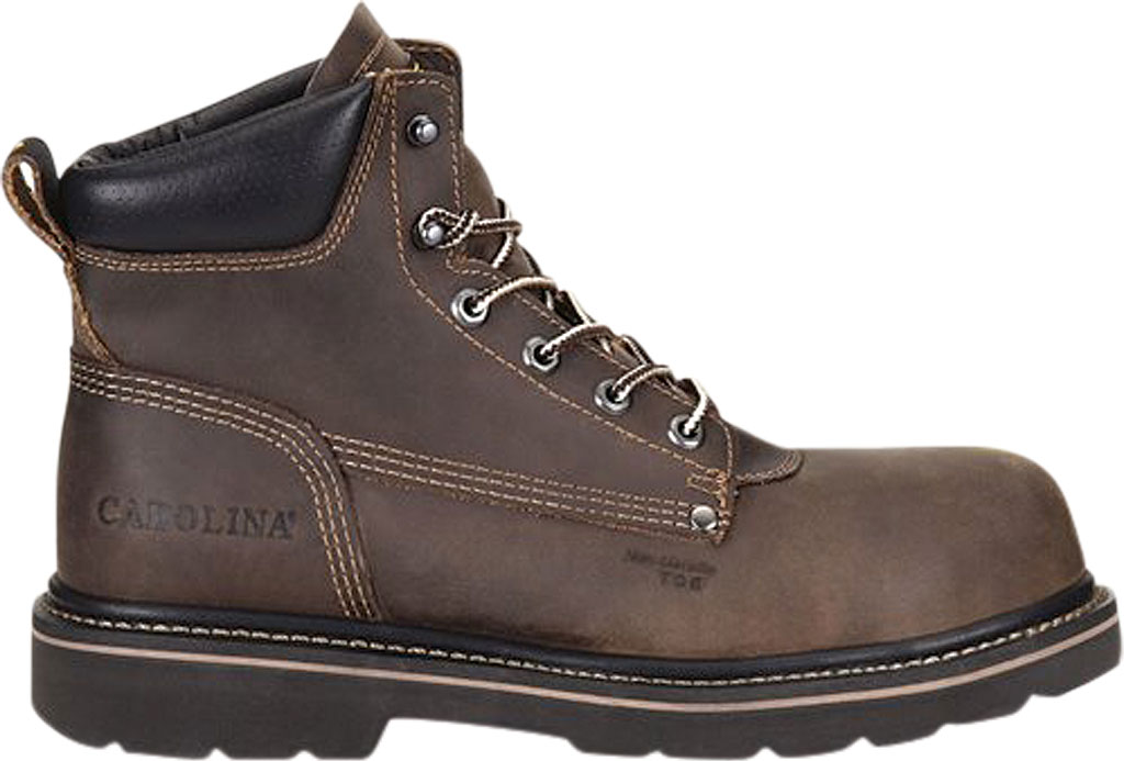 "Men's Carolina Shotcrete 6"" Work Boot, Medium Brown Neutral Pistol Leather, large, image 2"