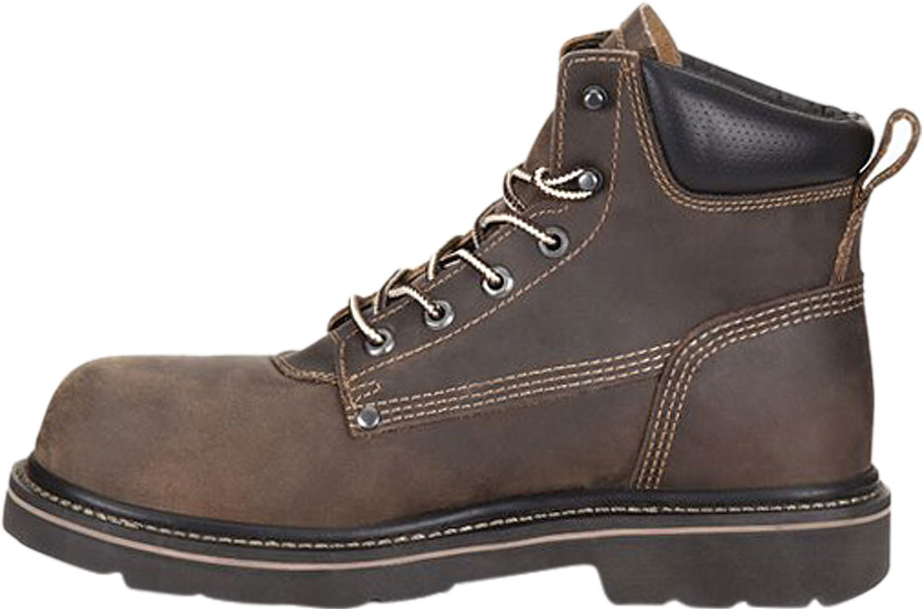 "Men's Carolina Shotcrete 6"" Work Boot, Medium Brown Neutral Pistol Leather, large, image 3"