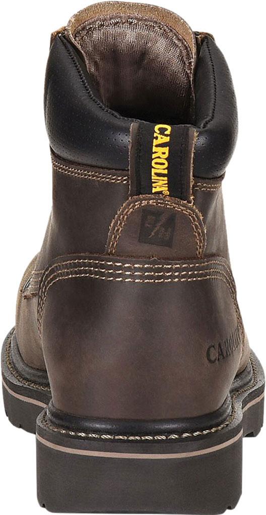 "Men's Carolina Shotcrete 6"" Work Boot, Medium Brown Neutral Pistol Leather, large, image 4"