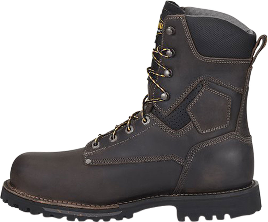 """Men's Carolina Pitstop 8"""" Waterproof Insulated Comp Toe Work Boot, Gray/Black Parachute Leather, large, image 2"""