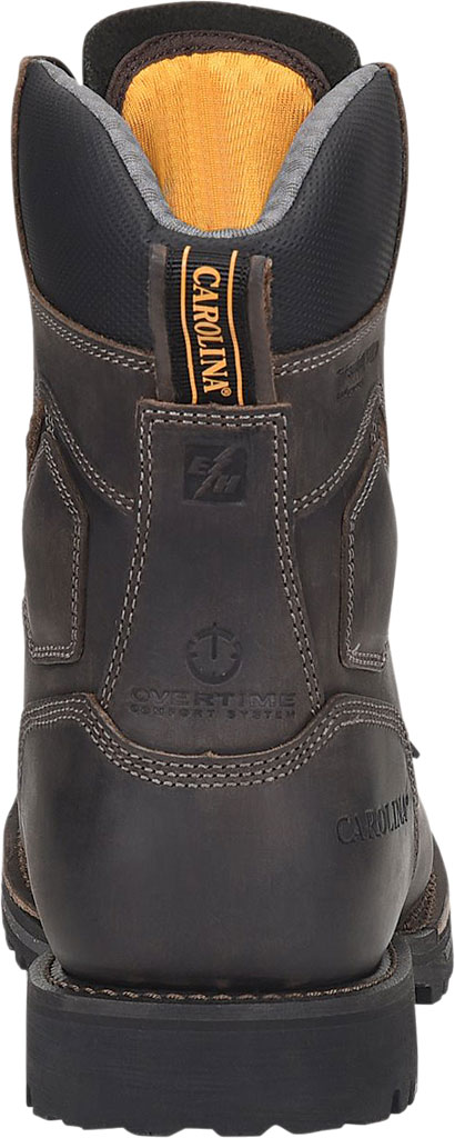 """Men's Carolina Pitstop 8"""" Waterproof Insulated Comp Toe Work Boot, Gray/Black Parachute Leather, large, image 3"""