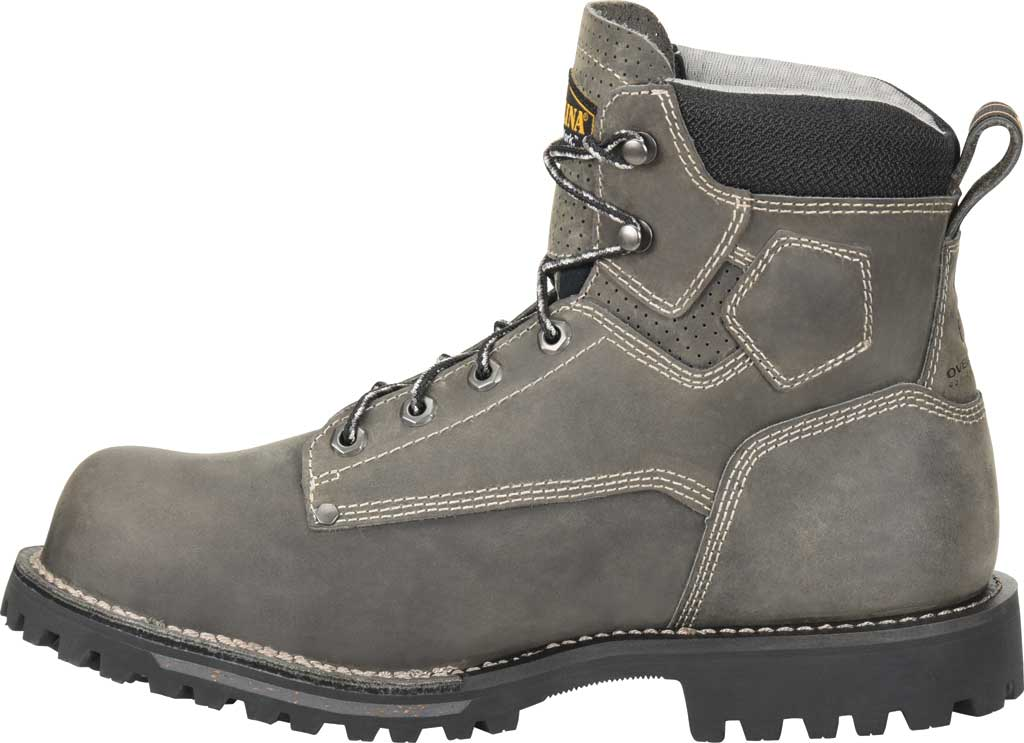 "Men's Carolina 6"" Waterproof Comp Toe Work Boot, Gray/Black Saddleback Leather, large, image 3"