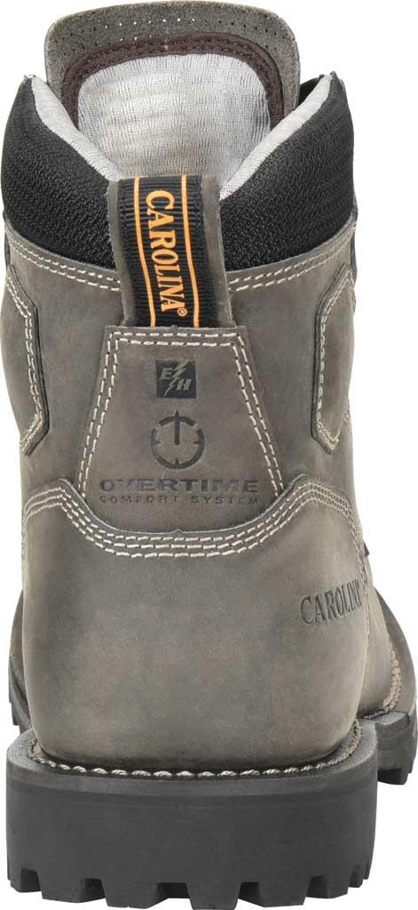 "Men's Carolina 6"" Waterproof Comp Toe Work Boot, Gray/Black Saddleback Leather, large, image 4"