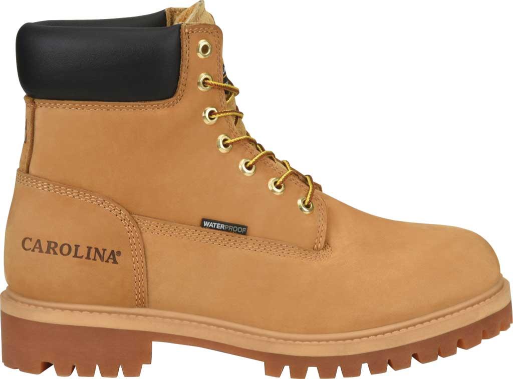 "Men's Carolina 6"" Waterproof 200G Work Boot, Light Beige Wheat Nubuck, large, image 2"