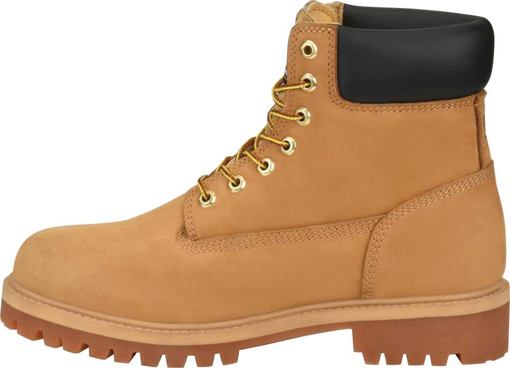 "Men's Carolina 6"" Waterproof 200G Work Boot, Light Beige Wheat Nubuck, large, image 3"