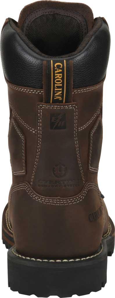 "Men's Carolina 8"" Waterproof Carbon Comp Toe Work Boot, Dark Brown Saddleback Leather, large, image 4"