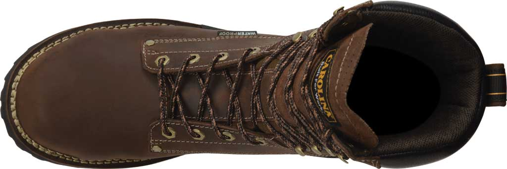 "Men's Carolina 8"" Waterproof Carbon Comp Toe Work Boot, Dark Brown Saddleback Leather, large, image 5"