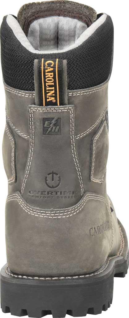 "Men's Carolina 8"" Waterproof Work Boot, Gray/Black Saddleback Leather, large, image 4"
