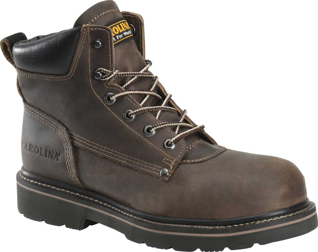 "Men's Carolina 6"" Comp Toe Work Boot, Medium Brown Neutral Pistol Leather, large, image 1"