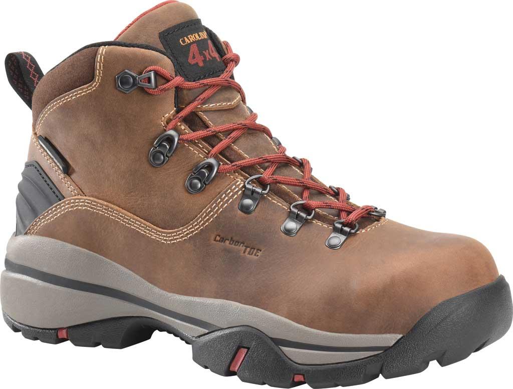 "Men's Carolina 6"" Waterproof Carbon Comp Toe Hiker Boot, Dark Brown Buggy Whip Tobacco Leather, large, image 1"