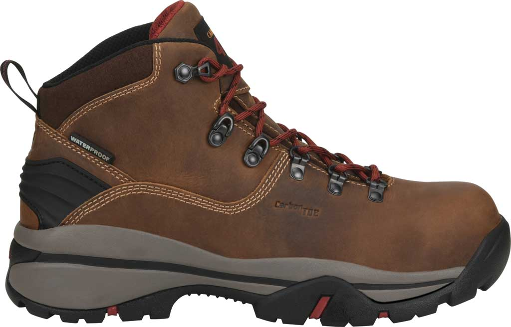 "Men's Carolina 6"" Waterproof Carbon Comp Toe Hiker Boot, Dark Brown Buggy Whip Tobacco Leather, large, image 2"
