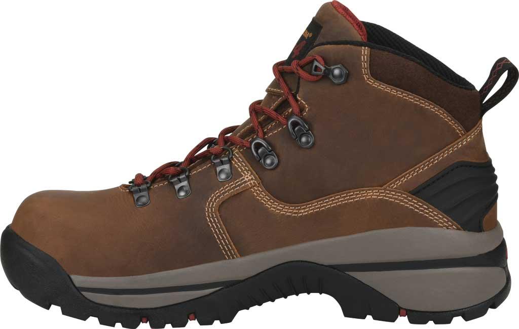 "Men's Carolina 6"" Waterproof Carbon Comp Toe Hiker Boot, Dark Brown Buggy Whip Tobacco Leather, large, image 3"