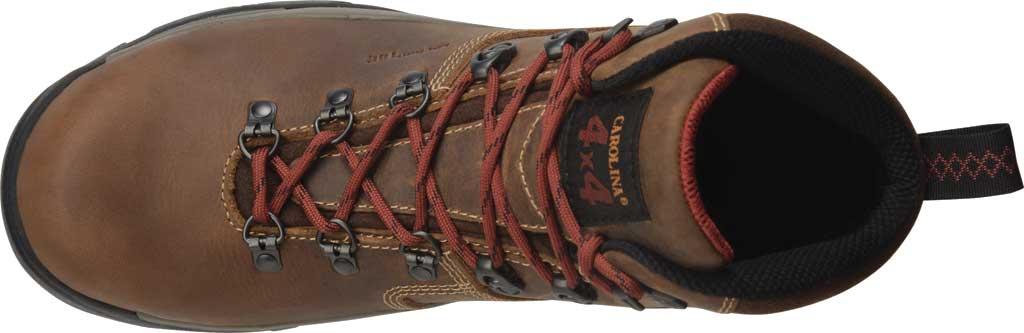 "Men's Carolina 6"" Waterproof Carbon Comp Toe Hiker Boot, Dark Brown Buggy Whip Tobacco Leather, large, image 5"