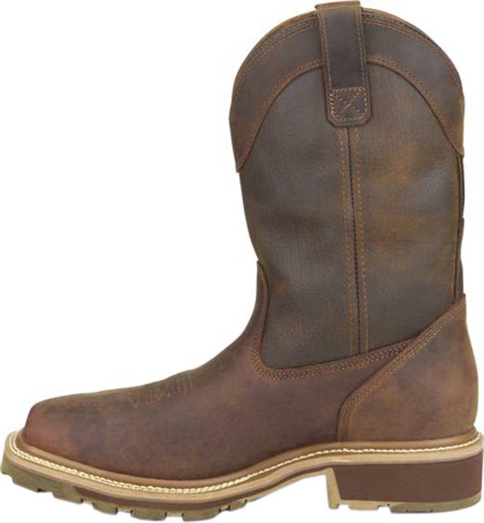 "Men's Carolina Girder 11"" Waterproof Composite Toe Cowboy Boot, Dark Brown Crazy Horse Tan Leather, large, image 3"