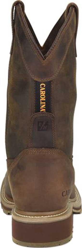 "Men's Carolina Girder 11"" Waterproof Composite Toe Cowboy Boot, Dark Brown Crazy Horse Tan Leather, large, image 4"