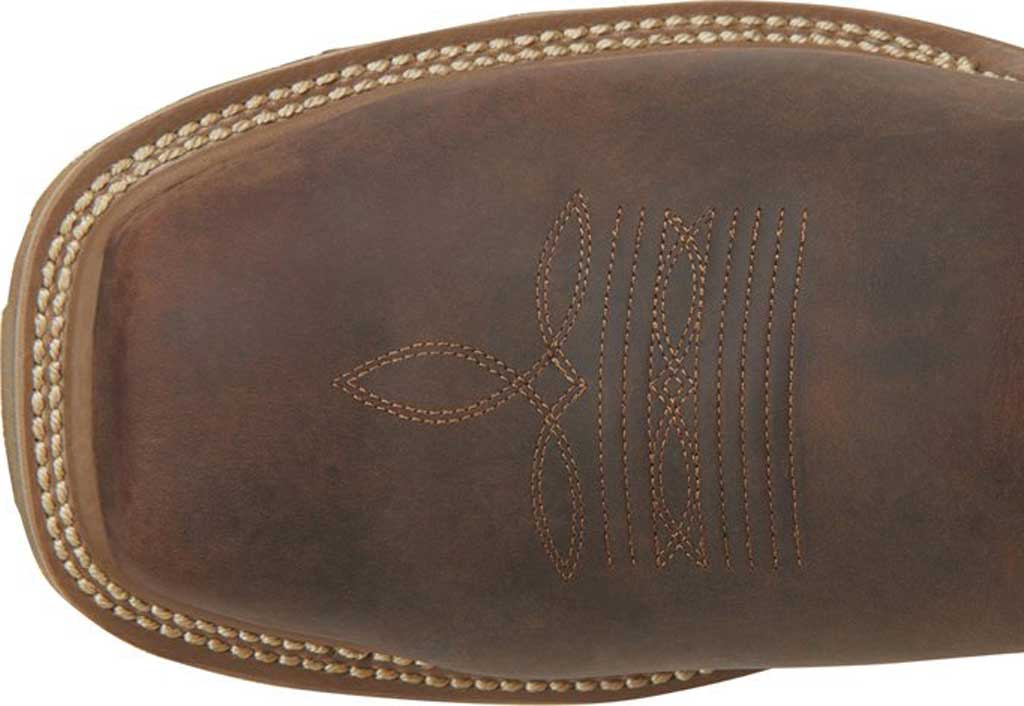 "Men's Carolina Girder 11"" Waterproof Composite Toe Cowboy Boot, Dark Brown Crazy Horse Tan Leather, large, image 5"