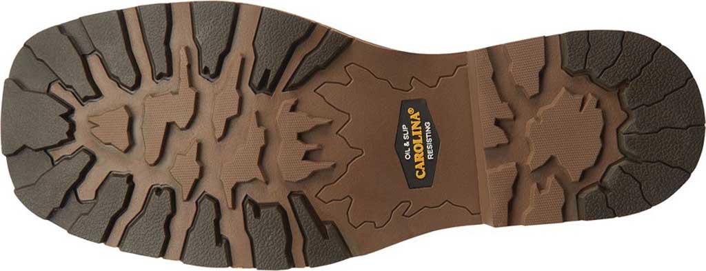 "Men's Carolina Girder 11"" Waterproof Composite Toe Cowboy Boot, Dark Brown Crazy Horse Tan Leather, large, image 6"