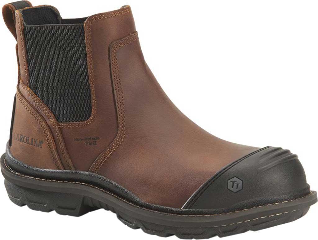 "Men's Carolina Cortex 5.5"" Composite Toe Work Boot, Dark Brown Neutral Mahogany Leather, large, image 1"