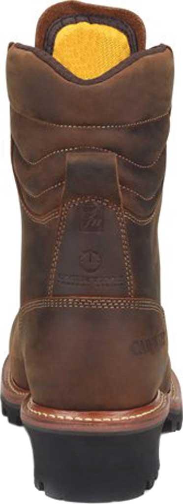 "Men's Carolina Hemlock 9"" Waterproof Composite Toe Logger Boot, Dark Brown Laid Back Leather, large, image 4"