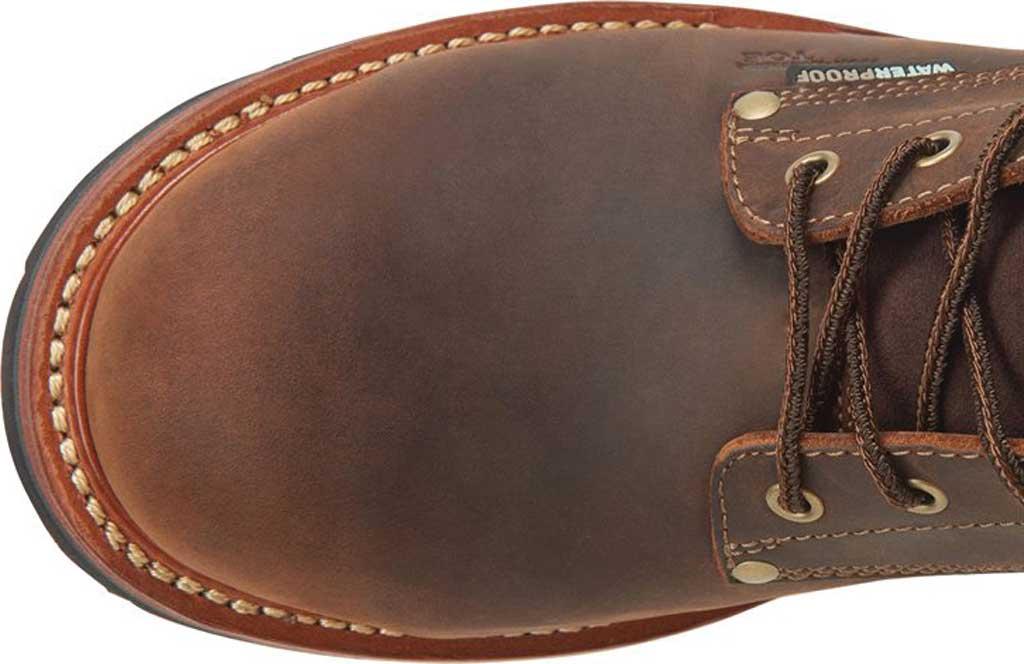 "Men's Carolina Hemlock 9"" Waterproof Composite Toe Logger Boot, Dark Brown Laid Back Leather, large, image 5"
