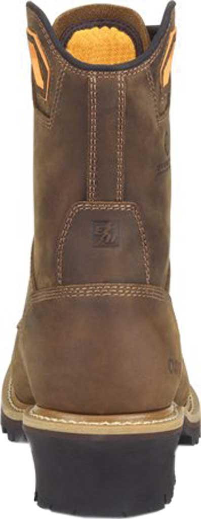 """Men's Carolina Coppice 8"""" Waterproof Composite Toe Logger Boot, Dark Brown Crazy Horse Leather, large, image 4"""