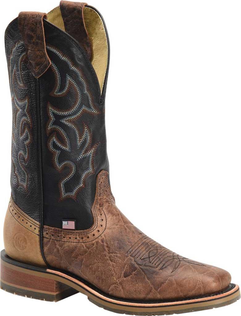 Men's Double H Grissom Cowboy Boot DH4644, Kenia Cognac Leather, large, image 1