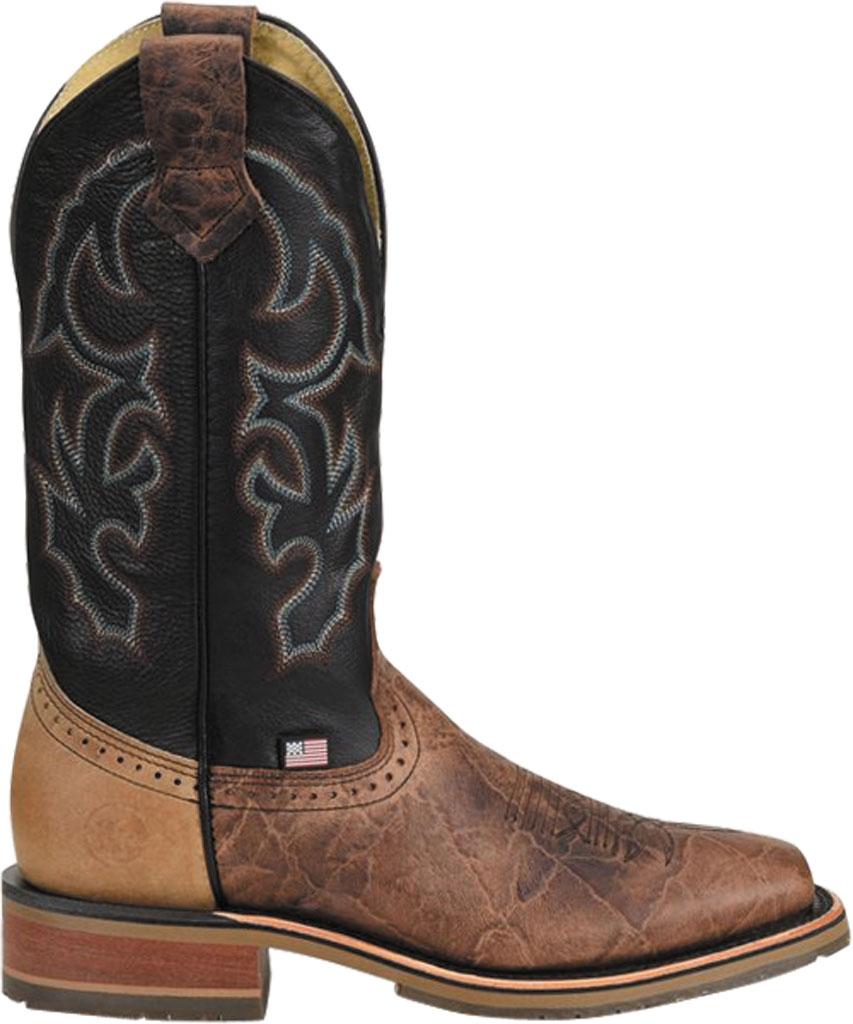 Men's Double H Grissom Cowboy Boot DH4644, Kenia Cognac Leather, large, image 2