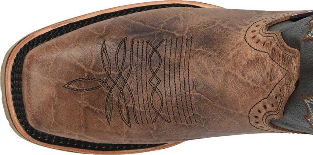 Men's Double H Grissom Cowboy Boot DH4644, Kenia Cognac Leather, large, image 4