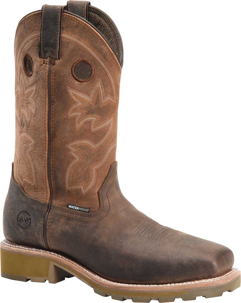 Men's Double H Abner Cowboy Boot DH4353, Medium Brown Bronco Leather, large, image 1