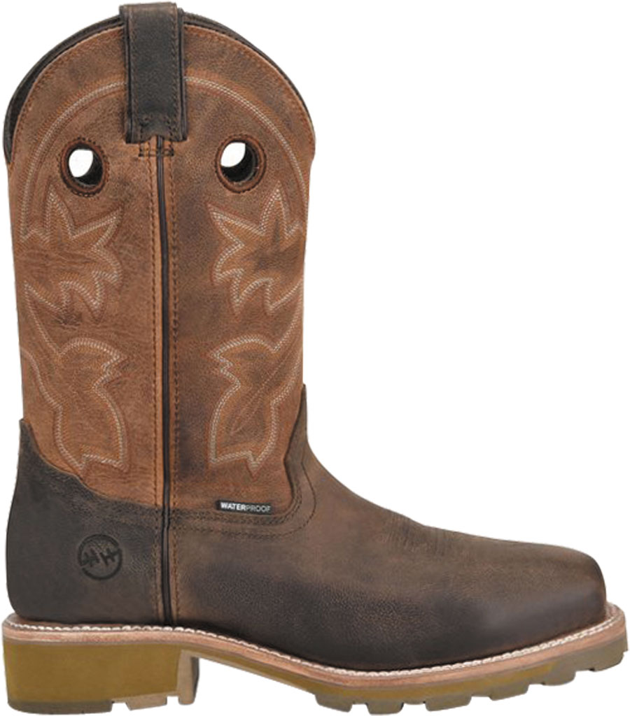 Men's Double H Abner Cowboy Boot DH4353, Medium Brown Bronco Leather, large, image 2