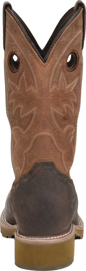 Men's Double H Abner Cowboy Boot DH4353, Medium Brown Bronco Leather, large, image 3